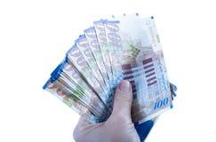 One hundred shekel bank notes . Stock Images