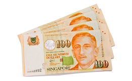 One hundred Singapore dollars Royalty Free Stock Photo