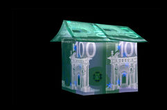 One Hundred and ten Euro House in UV light protection Royalty Free Stock Photos