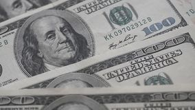 One hundred us dollar banknote stock video footage