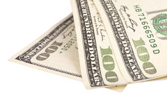 One hundred US dollar bills Royalty Free Stock Images