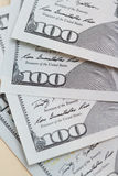One hundred US dollars banknotes Stock Photos