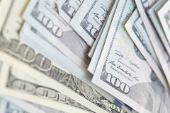 One hundred US dollars banknotes Royalty Free Stock Images