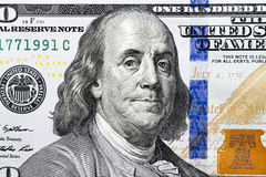 One hundred US dollars Royalty Free Stock Images