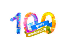100 one hundred year anniversary Stock Image