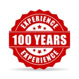 One hundred years experience vector icon. Isolated on white background Royalty Free Stock Image