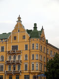 One hundred years old houses. In Helsinki down-town after rain Stock Photography