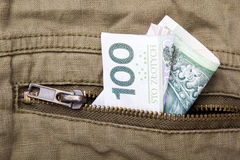 One hundred zloty bill Royalty Free Stock Images