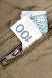 One hundred zloty bill Royalty Free Stock Photo