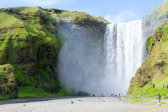 One of the hundreds of water falls in Iceland Stock Photography
