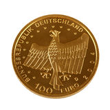 One hundret Euro gold coin Royalty Free Stock Photography