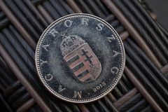 One Hungarian Forint HUF as a symbol of currency in Hungary Stock Photos