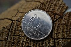 One Hungarian Forint HUF as a symbol of currency in Hungary Stock Photography