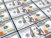 One hunred dollars banknote background Stock Photo