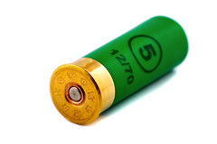 One hunting cartridge for shotgun Royalty Free Stock Photo