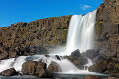 One of Icelands beautiful waterfalls Royalty Free Stock Photos