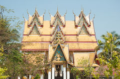 One of the impressive buildings of Wat Wang Wiwekaram Royalty Free Stock Images