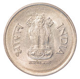One Indian Rupee coin Stock Images