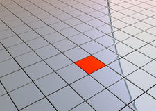 One individuality red cube Stock Photo