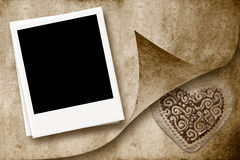 One instant empty photo frame background Royalty Free Stock Photos
