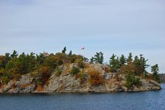 Free One Island In Thousand Islands, Ontario, Canada Royalty Free Stock Photo - 140035775