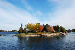 One Island in Thousand Islands Region, New York Royalty Free Stock Photos