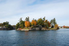 One Island in Thousand Islands Region, New York Stock Photos