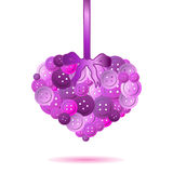 One isolated pink heart from color buttons Stock Photo