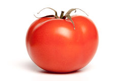 One isolated tomato. On the white background Royalty Free Stock Photography