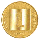 one Israeli Agora coin Royalty Free Stock Photography
