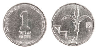 One Israeli New Sheqel coin Stock Photo
