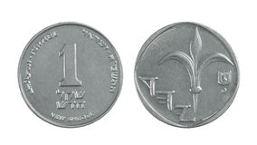 One Israeli Shekel Stock Photos