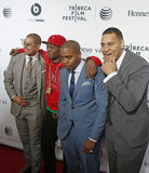 One9, Jungle, Nas, Erik Parker. One9, Jungle, Nas and Erik Parker attend the 2014 Tribeca Film Festival Opening Night Premiere of 'Time Is Illmatic' at The Royalty Free Stock Photos