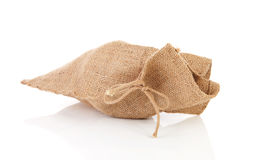 One jute bag Royalty Free Stock Photo