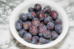 One kilo of plums Royalty Free Stock Image