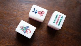 Chinese gambling,. One kind of Chinese gambling is Mahjong royalty free stock photography