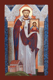 ICON - St. Augustine of Canterbury Stock Image