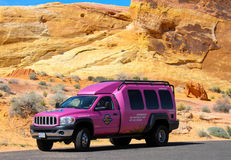 Famous Pink Jeep Truck Royalty Free Stock Images