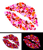 One kiss for Valentine's Day Royalty Free Stock Photo