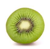 One kiwi fruit half. Isolated on white background cutout royalty free stock photo