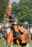 Knight on horse. One of the knight from ars equitandi. Ars Equitandi are show riders that often occurring on medieval festivals in Germany. You can see them at royalty free stock image