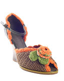 One knitted shoes Stock Image