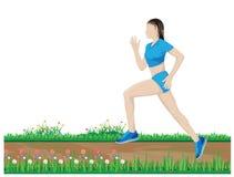 One lady run exercise Stock Image