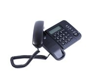 One landline phone. Stock Photography