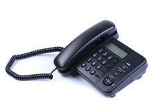 One landline phone on white background Royalty Free Stock Photo
