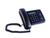 One landline phone on a white background Stock Image