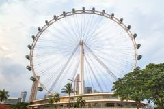 Ferris wheel in Singapore Royalty Free Stock Images