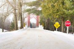 One Lane Bridge Stock Images
