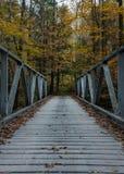 One Lane Bridge in Fall Royalty Free Stock Photo