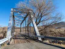 One lane bridge, Truckee River Royalty Free Stock Photo